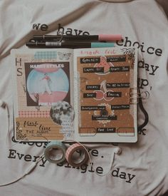 36 Likes, 6 Comments - A Bullet Journal School, Bullet Journal Notebook, Bullet Journal Ideas Pages, Bullet Journal Inspiration, Art Journal Pages, Music Journal, Scrapbook Journal, One Direction Art, Ellen Page