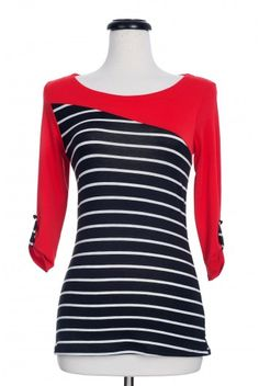 Type 4 Stylized Top in Red