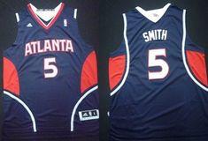 Atlanta Hawks #5 Josh Smith Revolution 30 Swingman Blue Jersey