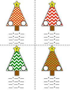 Fact Family Christmas Trees #2-20. Great for 1st & 2nd grader to practice their facts. Makes a great display!