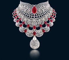 Diamond Necklace Hazoorilal by Sandeep Narang has multiple stores across Delhi where you get a royal taste of exquisite, elegant jewellery. See yourself to choose your pick quickly. Bridal Jewelry, Gemstone Jewelry, Diamond Jewellery, Hazoorilal Jewellers, Diamond Necklace Set, Emerald Necklace, Diamond Pendant, Pendant Necklace, Gold Necklace