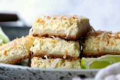 Recipe: Coconut Lime Cheesecake Bars
