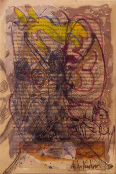 Allen Vandever; Chicago; cotemporary; new; yoga; nude; epoxy; artist; abstrac; new; collage; Chicago Artist Et23