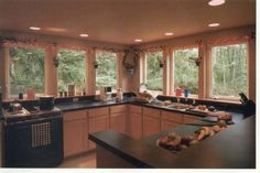 kitchens with no upper cabinets -lots of light