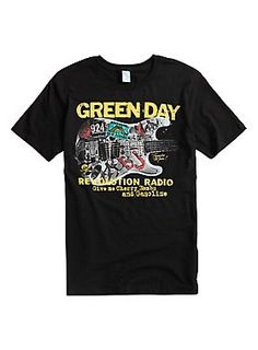 2e42c7f5b8b6 Give me cherry bombs and gasoline! Black T-shirt from Green Day with a