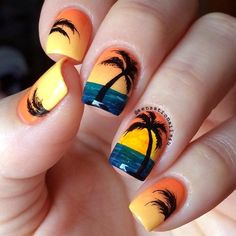 Spring break is a time that everyone cannot wait for. Use these nail art ideas as your weapon of choice and you will always look irresistible and bright, no matter where you go! Take a pick! #nails #nailart #naildesign #springbreaknails