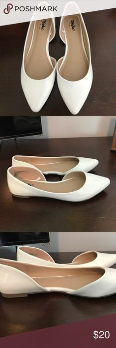 Target - Mossimo White Flats New but without tag Mossimo white flats. Purchased and my feet were too wide to wear comfortably. Size 6.5. Mossimo Supply Co. Shoes Flats & Loafers
