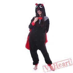 Adult Black Bats Onesie Pajamas / Costumes for Women & Men