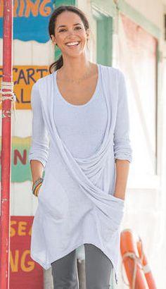 draped tunic - so different, love it!