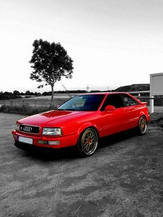 Audi 90, Audi Cars, Red Audi, Slammed Cars, Volkswagen Caddy, Audi Sport, Tuner Cars, Sweet Cars, Car Wheels
