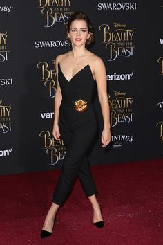 "Emma Watson at the premiere event for ""Beauty and the Beast"" held at the El Capitan Theatre in Hollywood Los Angeles, California  on March 2, 2017. Pinned by @lilyriverside"