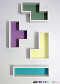 Do you still see Tetris shapes falling when you close your eyes? Hang them up on the wall instead with these quirky shelves designed by Our Nerd Home. Find out how here »