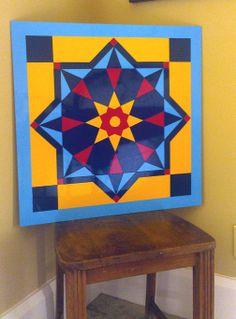 Custom 2' x 2' Barn Quilt Block Design - Egyptian Star