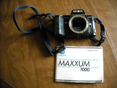 Minolta Maxxum 7000 Body Only for Parts or Repair with Manual for sale at Wenzel Thrifty Nickel ecrater store