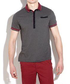 Stripey Polo T-Shirt