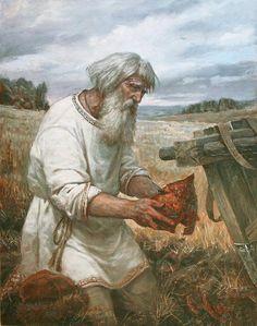 Erlikan - Right after The Severence Russian Painting, Russian Art, Medieval World, Medieval Fantasy, Ukraine, Christian Religions, Fantasy Illustration, Fantasy Creatures, Fantasy Art