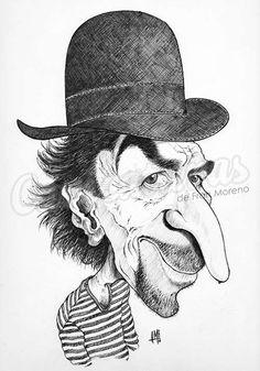 """Caricatura de """"Joaquín Sabina"""" por Fran Moreno"""