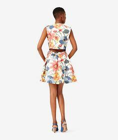 Peek-A-Boo Back Dress in Photo Floral