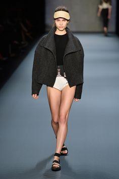 Look Swan Coat with Living Leotard London College Of Fashion, Fall Winter, Autumn, Leotards, Spring Summer, Summer 2014, Catwalk, Stella Mccartney, Ready To Wear
