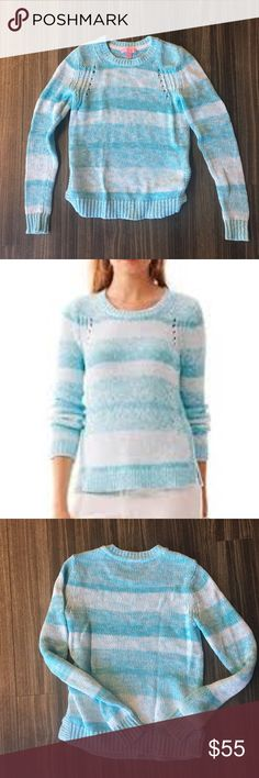 Lilly Pulitzer Tabitha Ombre Sweater Lilly Pulitzer Tabitha Ombre Crewneck Sweater Size XS  100% cotton In excellent condition. Reasonable offers considered Lilly Pulitzer Sweaters Crew & Scoop Necks