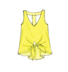 M6960- Pullover top with attached tie ends #mccalls #nowtrending #tops