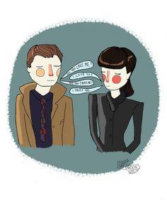 Deckard e Rachael, personagens de Blade Runner. Nan Lawson.
