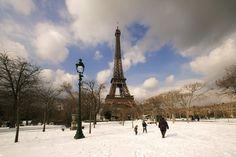 Parigi con la neve!