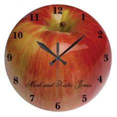 Apple Round Large Clock