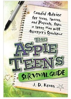 The Aspie Teen's Survival Guide for kids with asperger's syndrome - a fantastic book for both parents, teachers, and therapists that work with kids on the autism spectrum. PLUS free printable unwritten social rules poster. #books #autism