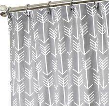 Extra Long Shower Curtain Cool Shower Curtains Fabric Gray Arrow 96""