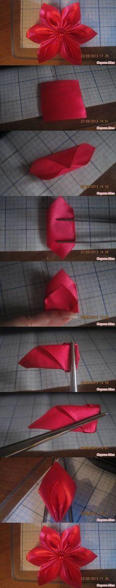DIY New Leaf Ribbon Flower DIY Projects / UsefulDIY.com