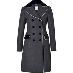 Moschino Wool Coat in Grey/White (5.190 HRK) ❤ liked on Polyvore featuring outerwear, coats, jackets, coats & jackets, moschino, grey, gray coat, wool coat, color block wool coat and gray wool coat