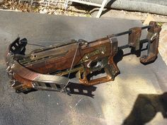 STEAMPUNK CrossBow Zombie Strike Nerf Blaster w/removable chainsaw and shoulder…