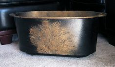 Beautiful Antique Large Solid Brass Oval Pot by HoardersShop