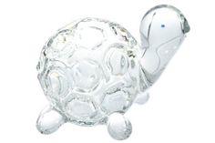 Hand Blown Glass Art Miniature Turtle Tortoise Figurine Animal Handmade Collectible