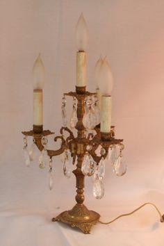 gorgeous chandelier table lamp $150 etsy antique