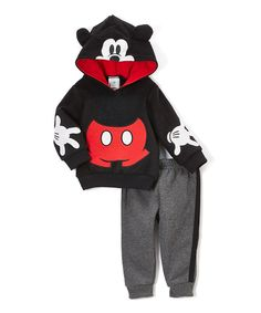 Mickey Mouse Black Hoodie & Pants - Infant