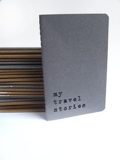 my travel stories - Printed recycled cover Moleskine Notebook for globetrotters and occasional travelers. on Etsy, $8.42
