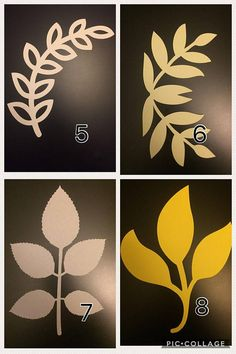 Paper Flowers Discover Paper Flower Leaves Stem Leaves Vines Paper Leaves Leaf Set of 10 Paper Flower Patterns, Paper Flowers Craft, Paper Flower Wall, Giant Paper Flowers, Paper Flower Tutorial, Flower Wall Decor, Flower Crafts, Diy Flowers, Flower Decorations