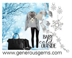 Let It Snow by generousgems.com on Polyvore featuring Sandro, Paige Denim, Giuseppe Zanotti, Burberry, Eugenia Kim, Barbour and Wedgwood  #snow #snowflake #babyitscoldoutside #winter2015 #winterfashion #polyvorefashion #snowwhite #snowflakejewelry #jewelry #gift #fashiontrend #lovely #giftguide