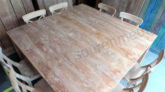 Teak tafel vierkant 160x160 afbeelding 1
