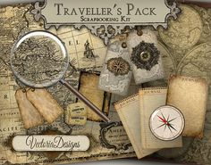 Du voyageur Pack Junk Journal Digital par VectoriaDesigns sur Etsy