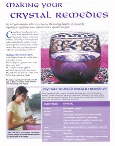 Crystals & Stones: Making Your #Crystal Remedies.