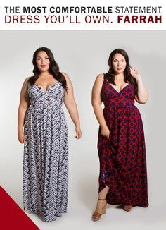 A bold graphic print decorates this plus size maxi dress with an A-line silhouette that beautifully flows over your curves, and gives you enough room to move with ease.