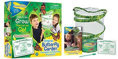 Insect Lore Butterfly Growing Kit Toy - Includes Voucher Coupon for 5 Live Caterpillars to Butterflies - SHIP LATER - Witness one of nature's most spectacular transformations up close with this reusable, collapsible habitat. Fine, transparent mesh lets you see butterfly metamorphosis up close. Product includes easy-to-use feeder and complete instructions for habitat. Butterfly larvae with food shipped directly t...
