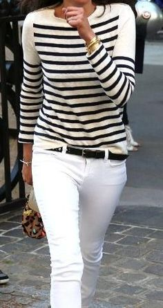 black + white. breton stripes.