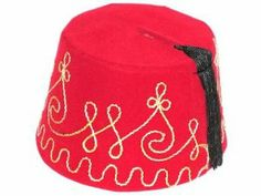 TARBUSH FEZ HAT - Authentic Ottoman Turkish Turkey Moroco Egypt - New by US HATS. $6.99. Brand New HAT - GRADE A. See Description for more information. Please allow 7-14 days delivery. FEZ TARABUSH HAT - This brand new FEZ (FES), a symbol of Ottoman Empire, is manufactured in Istanbul, Turkey. The hat is in the shape of a truncated cone; a black tassel hangs from the crown and it bears gold colored decorations. It is a decoration piece which would be a great gift, as wel...