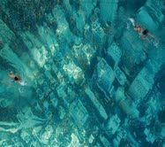 A pool bottom painted like a Metro City scape!