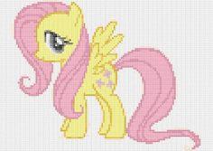 my little pony  Fluttershy   pdf cross di PDFanimeCrossStitch, $3.50