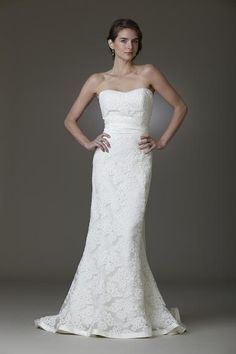 Laces and Novelties , Strapless, Trumpet - Kennedy | Designer Wedding Dresses | Amy Kuschel Bride | Couture Bridal Gowns | Clever Couture